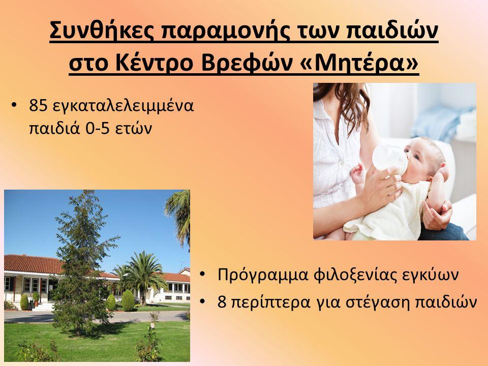 Συνθήκες παραμονής των παιδιών στο Κέντρο Βρεφών «Μητέρα»