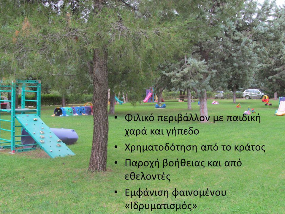 Φιλικό περιβάλλον με παιδική χαρά και γήπεδο