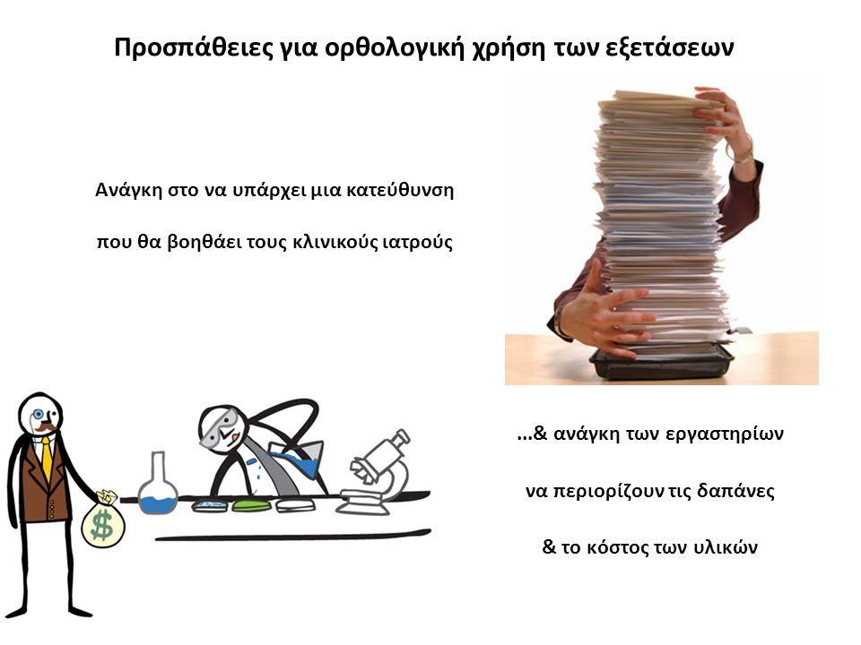 Προσπάθειες για ορθολογική χρήση των εξετάσεων