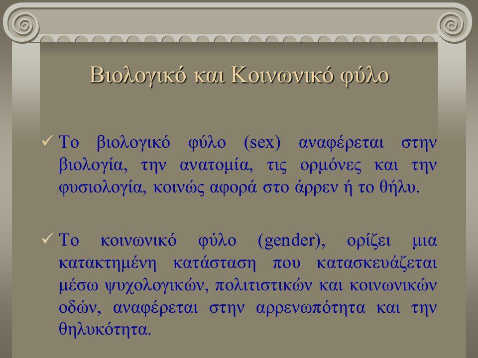 Βιολογικό και Κοινωνικό φύλο