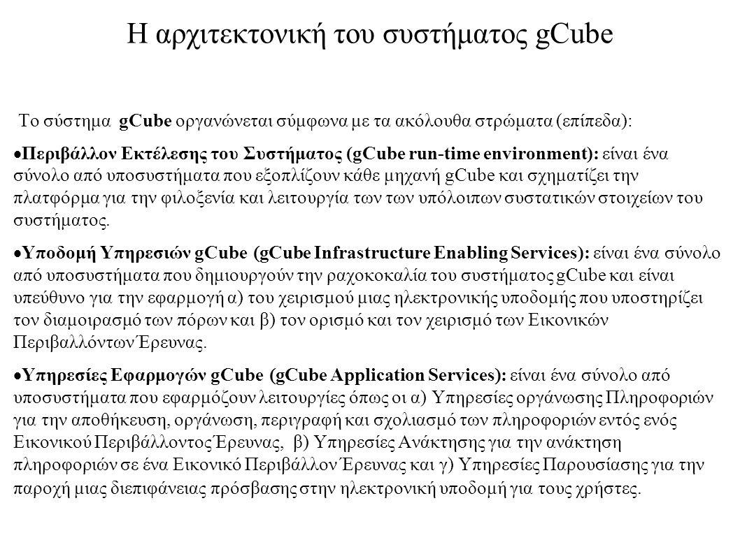 Η αρχιτεκτονική του συστήματος gCube