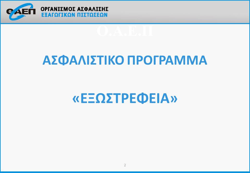 ΑΣΦΑΛΙΣΤΙΚΟ ΠΡΟΓΡΑΜΜΑ