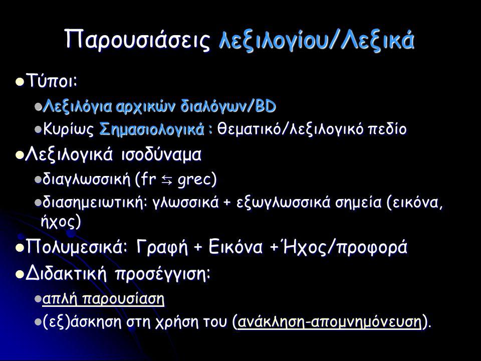 Παρουσιάσεις λεξιλογίου/Λεξικά