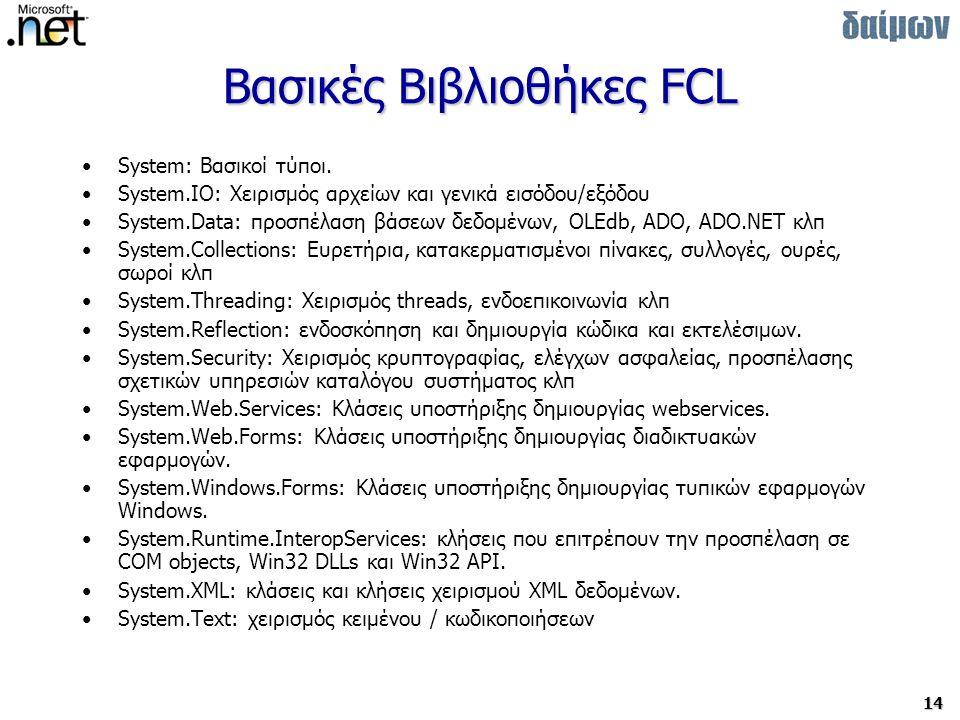 Βασικές Βιβλιοθήκες FCL