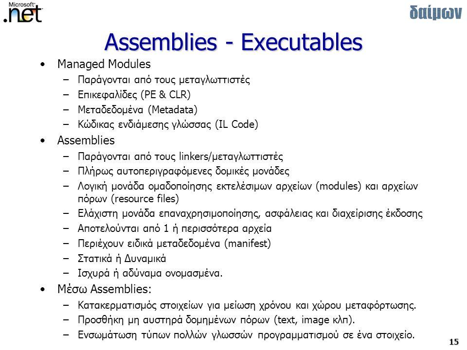 Assemblies - Executables