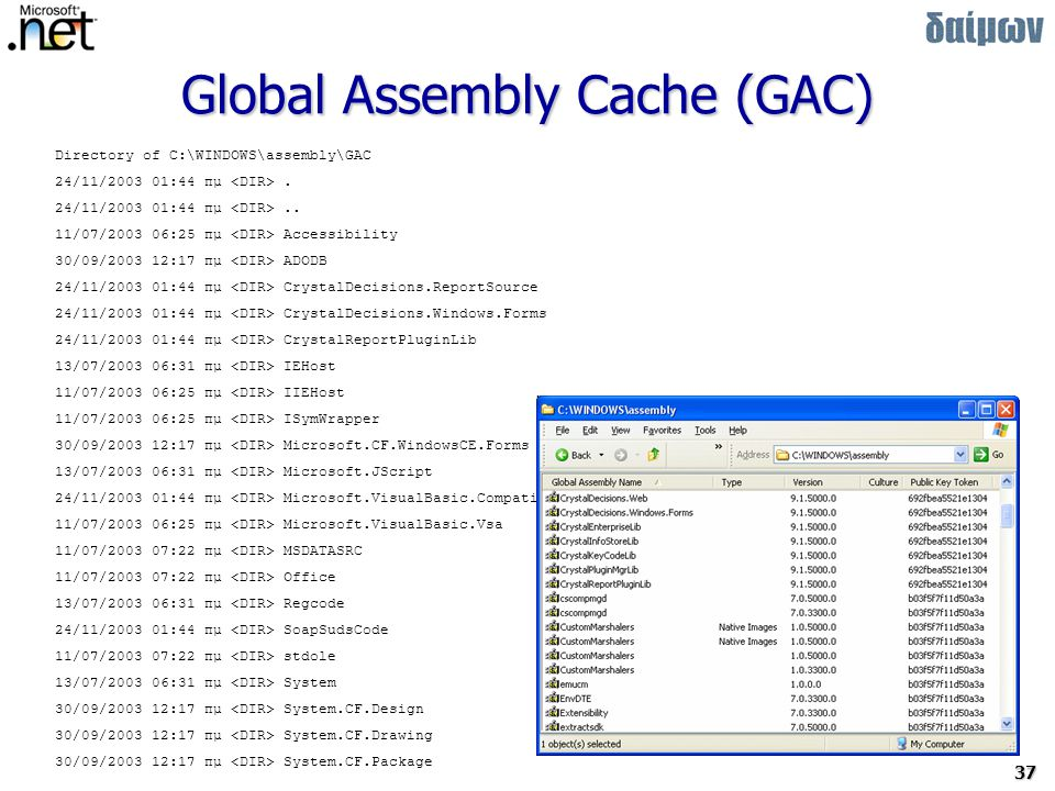 Global Assembly Cache (GAC)