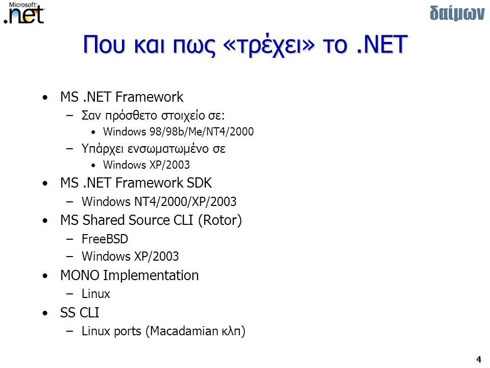 Που και πως «τρέχει» το .NET