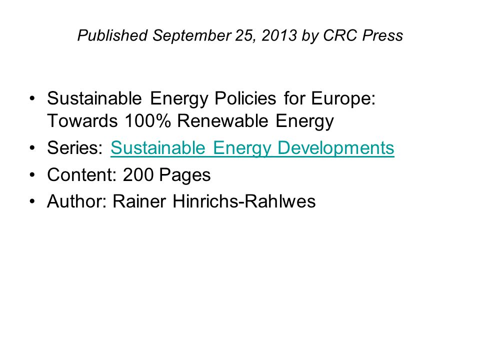 Published September 25, 2013 by CRC Press