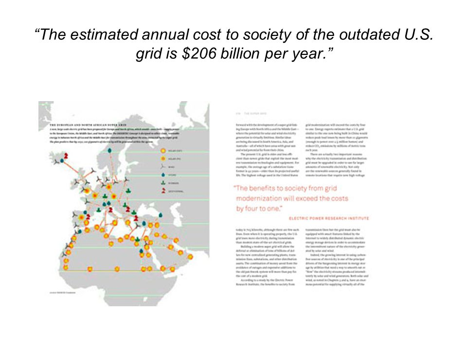 The estimated annual cost to society of the outdated U. S