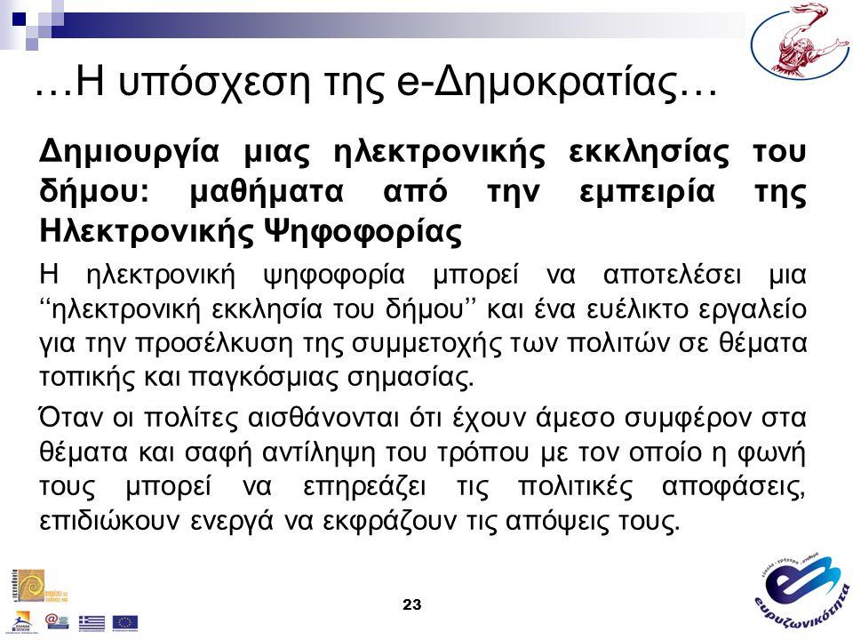 …Η υπόσχεση της e-Δημοκρατίας…