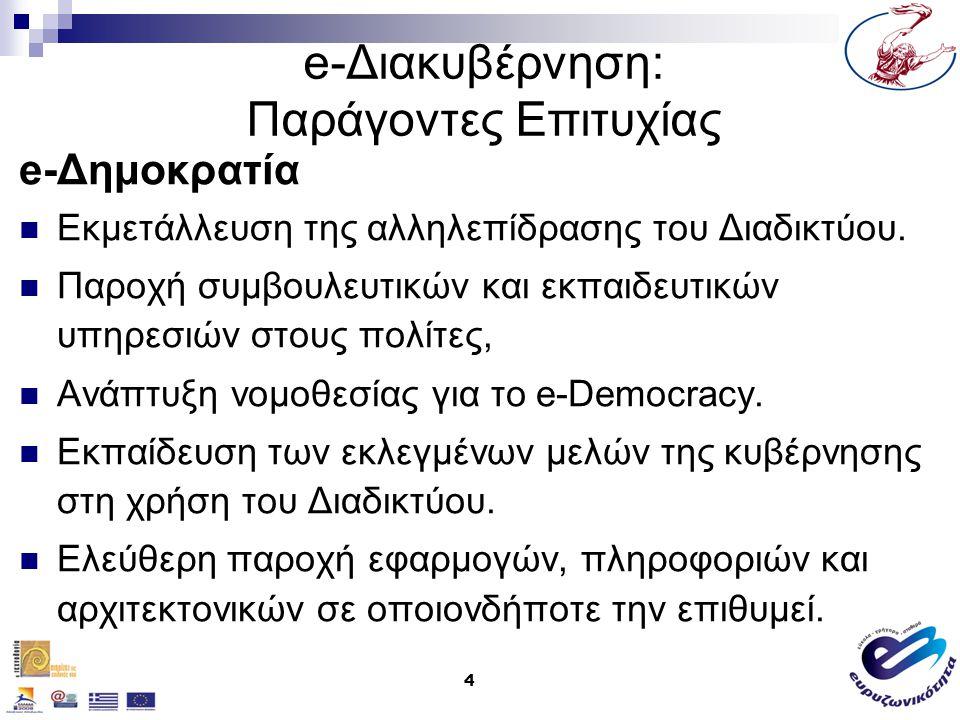 e-Διακυβέρνηση: Παράγοντες Επιτυχίας
