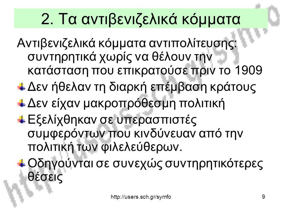2. Τα αντιβενιζελικά κόμματα