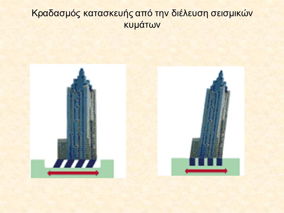 Κραδασμός κατασκευής από την διέλευση σεισμικών κυμάτων