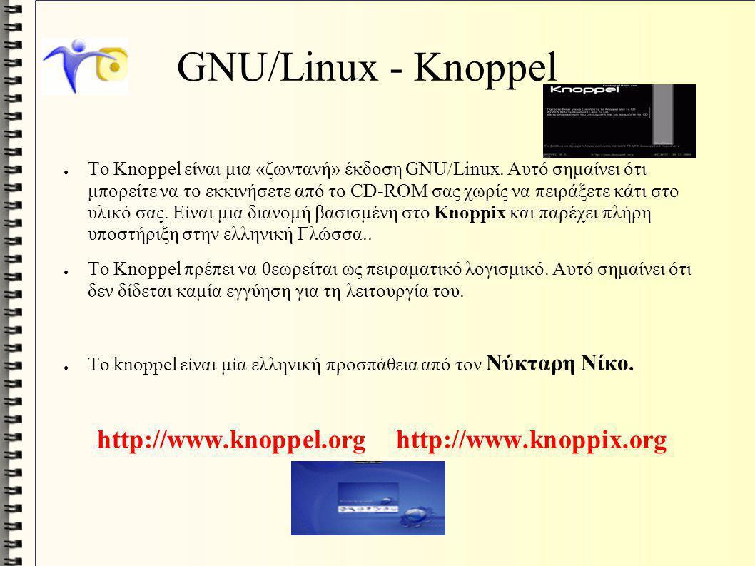 http://www.knoppel.org http://www.knoppix.org