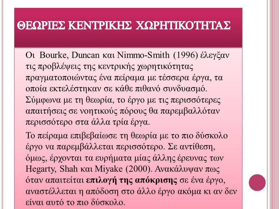 ΘΕΩΡΙΕΣ ΚΕΝΤΡΙΚΗΣ ΧΩΡΗΤΙΚΟΤΗΤΑΣ