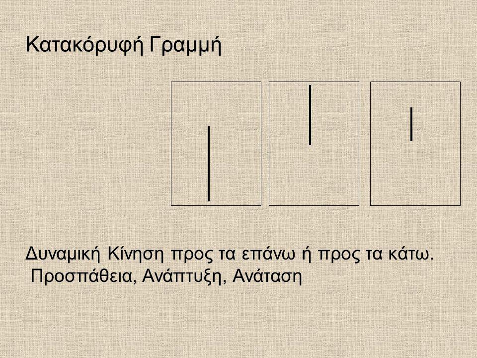 Κατακόρυφή Γραμμή Δυναμική Κίνηση προς τα επάνω ή προς τα κάτω.