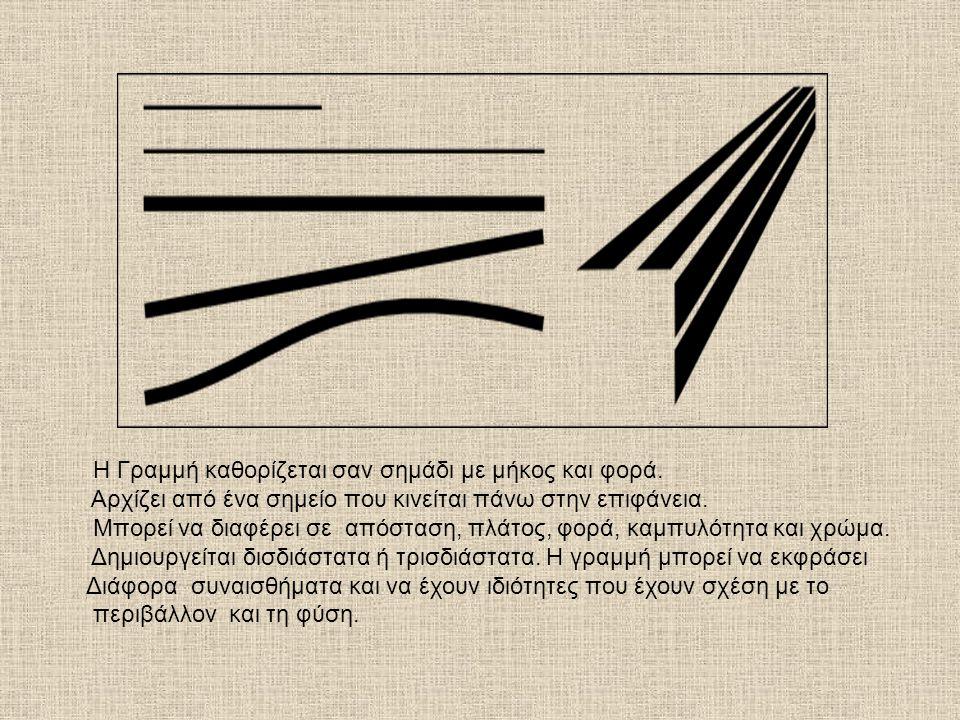 Η Γραμμή καθορίζεται σαν σημάδι με μήκος και φορά.