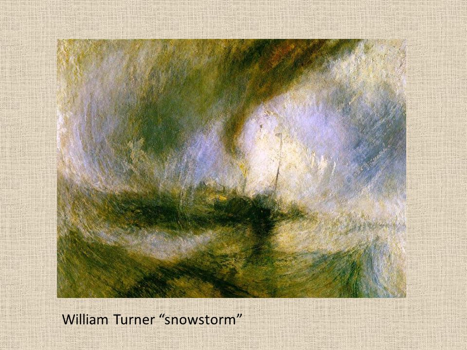 William Turner snowstorm