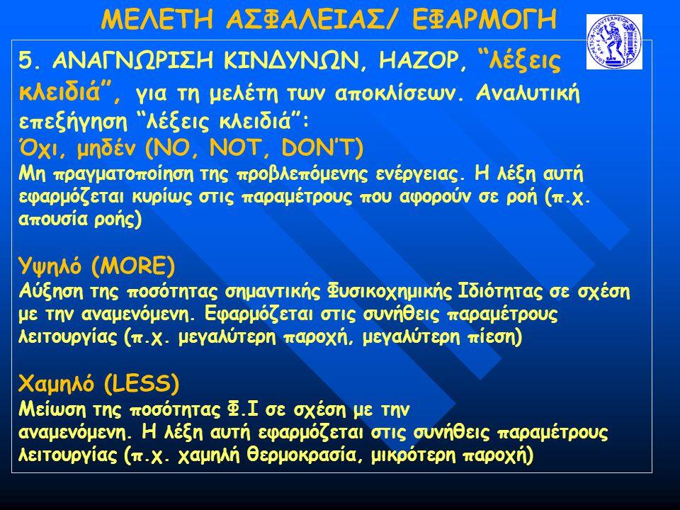 MΕΛΕΤΗ ΑΣΦΑΛΕΙΑΣ/ ΕΦΑΡΜΟΓΗ