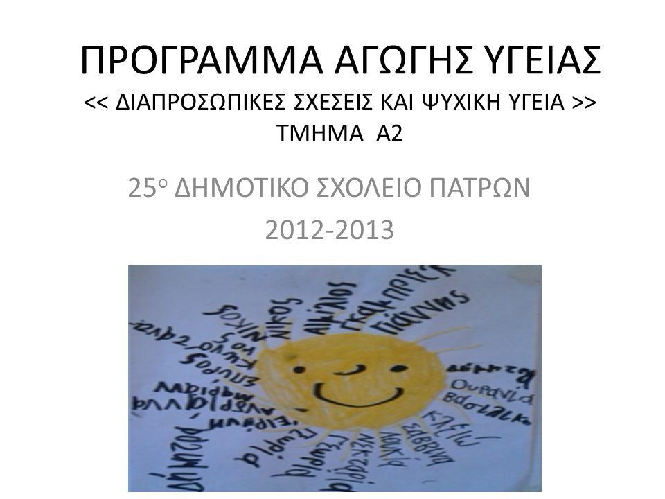 25ο ΔΗΜΟΤΙΚΟ ΣΧΟΛΕΙΟ ΠΑΤΡΩΝ 2012-2013