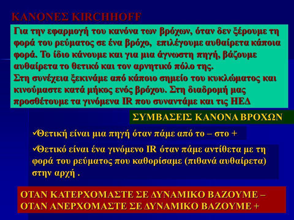 ΚΑΝΟΝΕΣ KIRCHHOFF