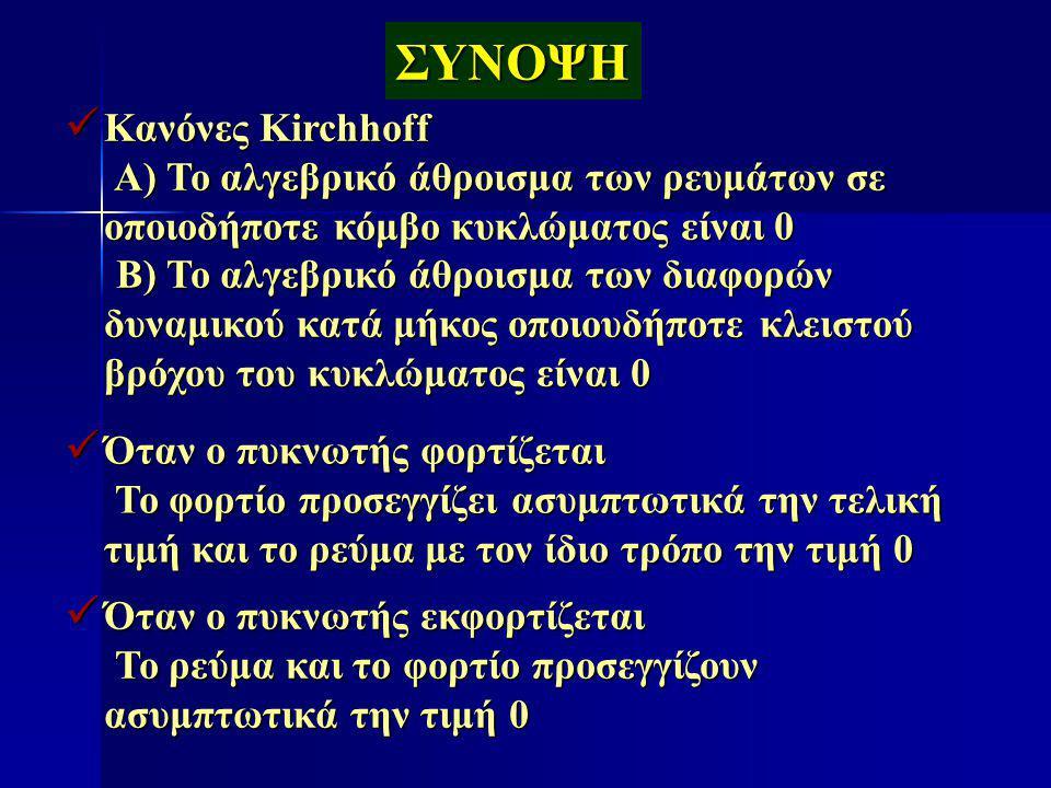 ΣΥΝΟΨΗ Κανόνες Kirchhoff
