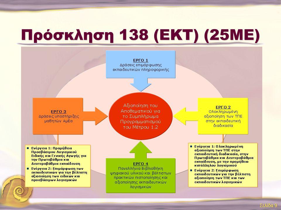 Πρόσκληση 138 (ΕΚΤ) (25ΜΕ)