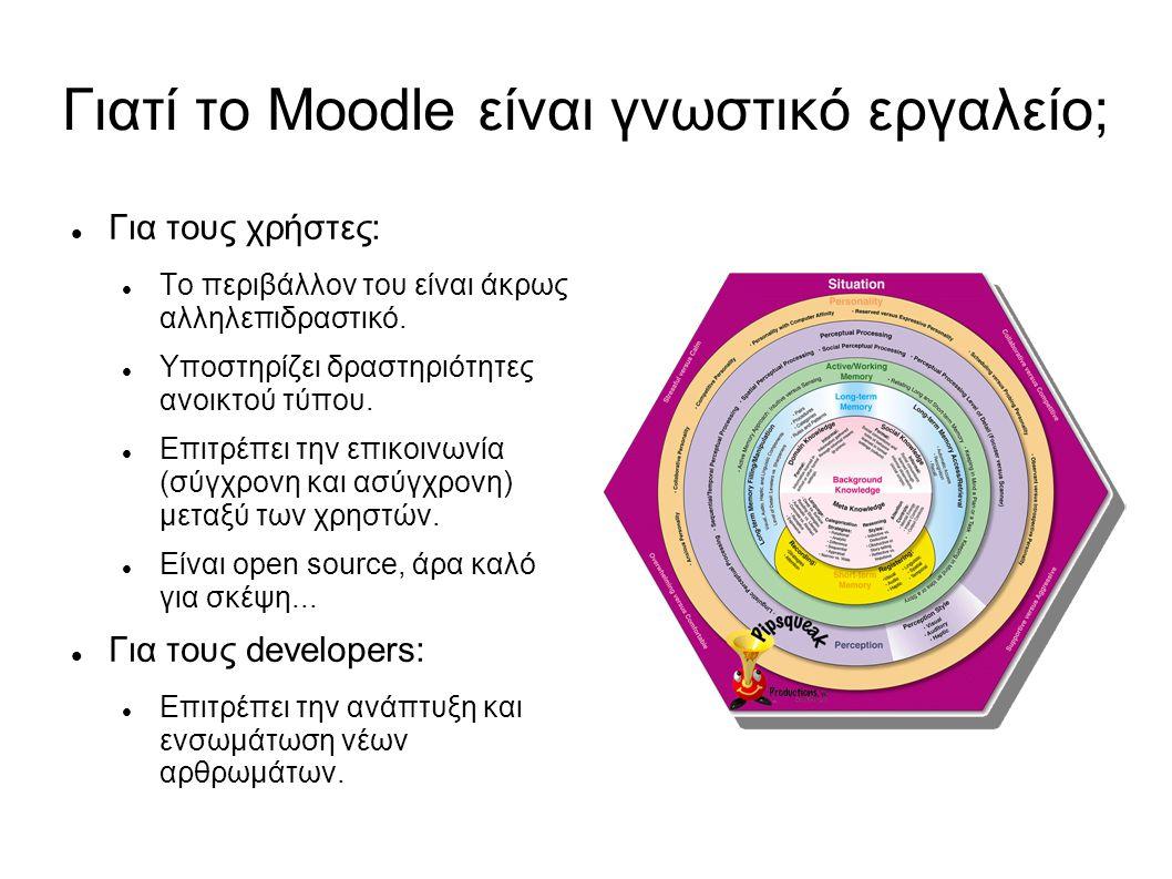 Γιατί το Moodle είναι γνωστικό εργαλείο;