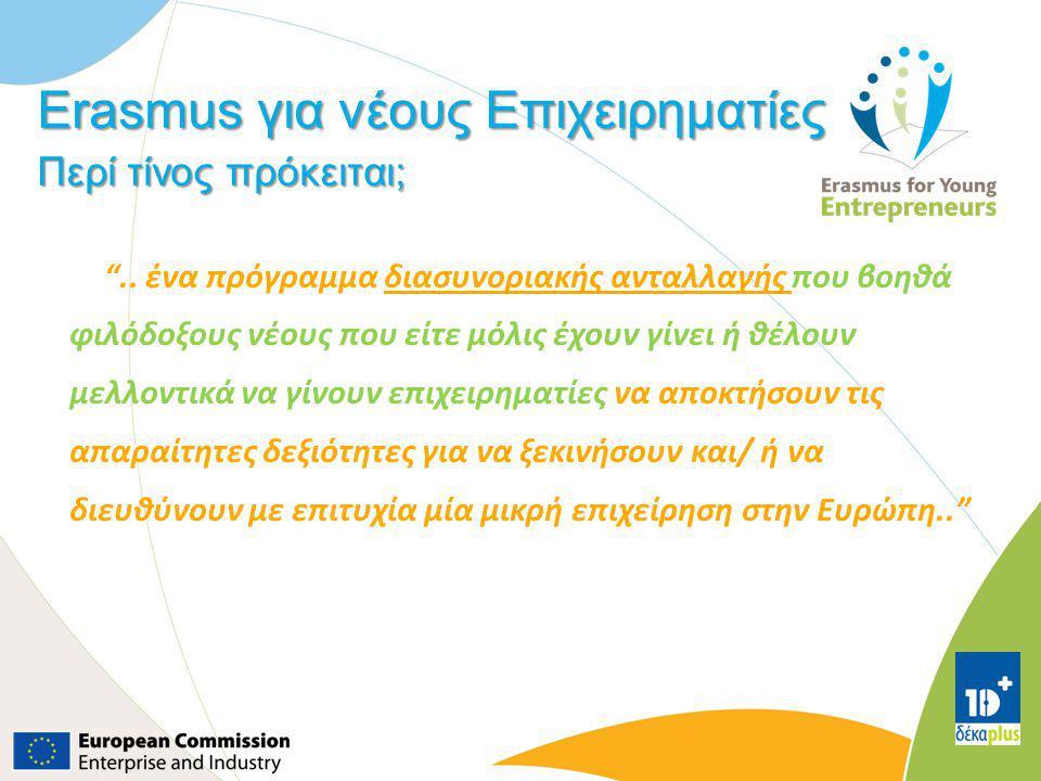 Erasmus για νέους Επιχειρηματίες Περί τίνος πρόκειται;