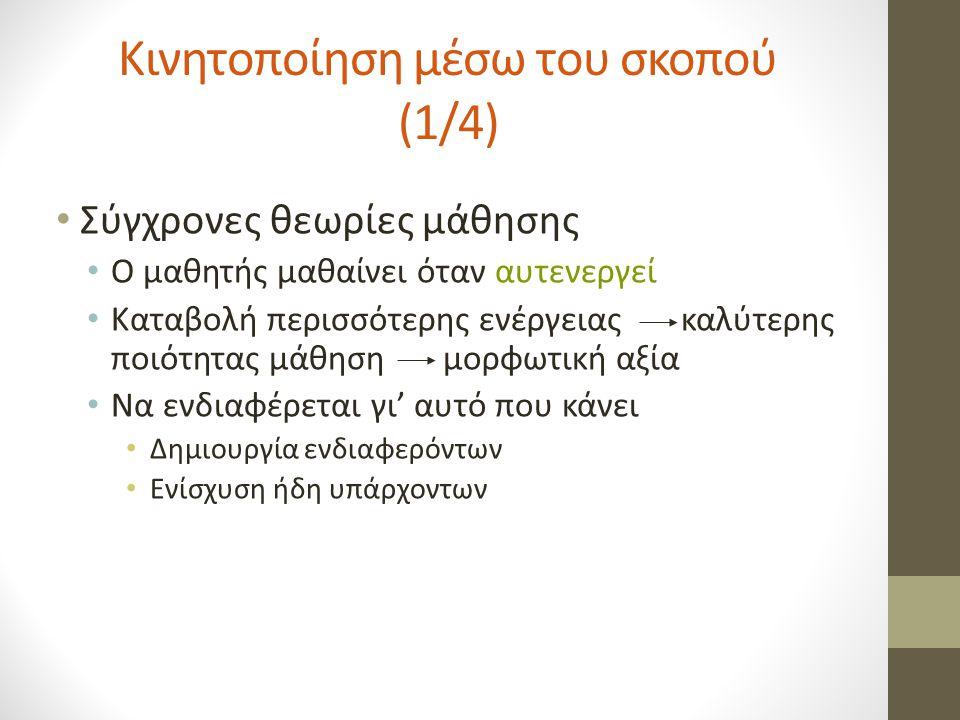 Κινητοποίηση μέσω του σκοπού (1/4)