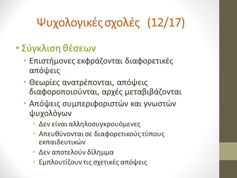 Ψυχολογικές σχολές (12/17)