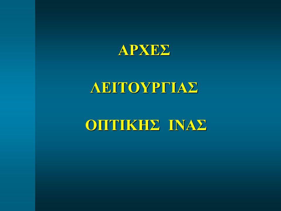 ΑΡΧΕΣ ΛΕΙΤΟΥΡΓΙΑΣ ΟΠΤΙΚΗΣ ΙΝΑΣ