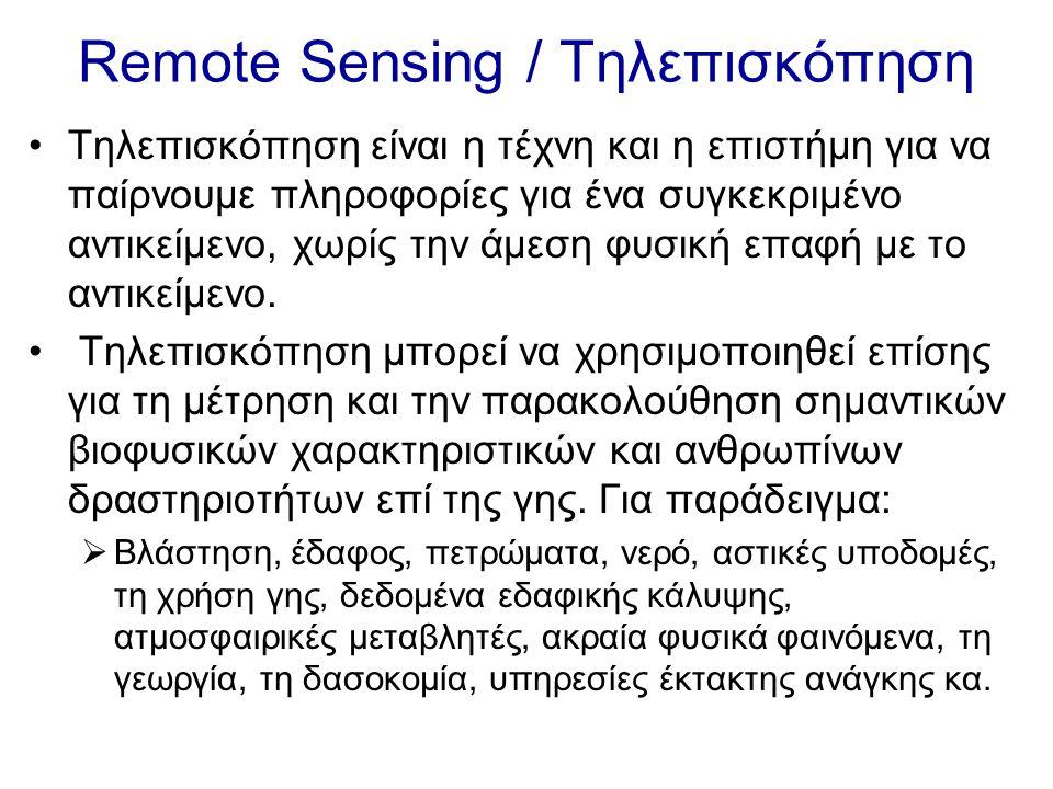 Remote Sensing / Τηλεπισκόπηση