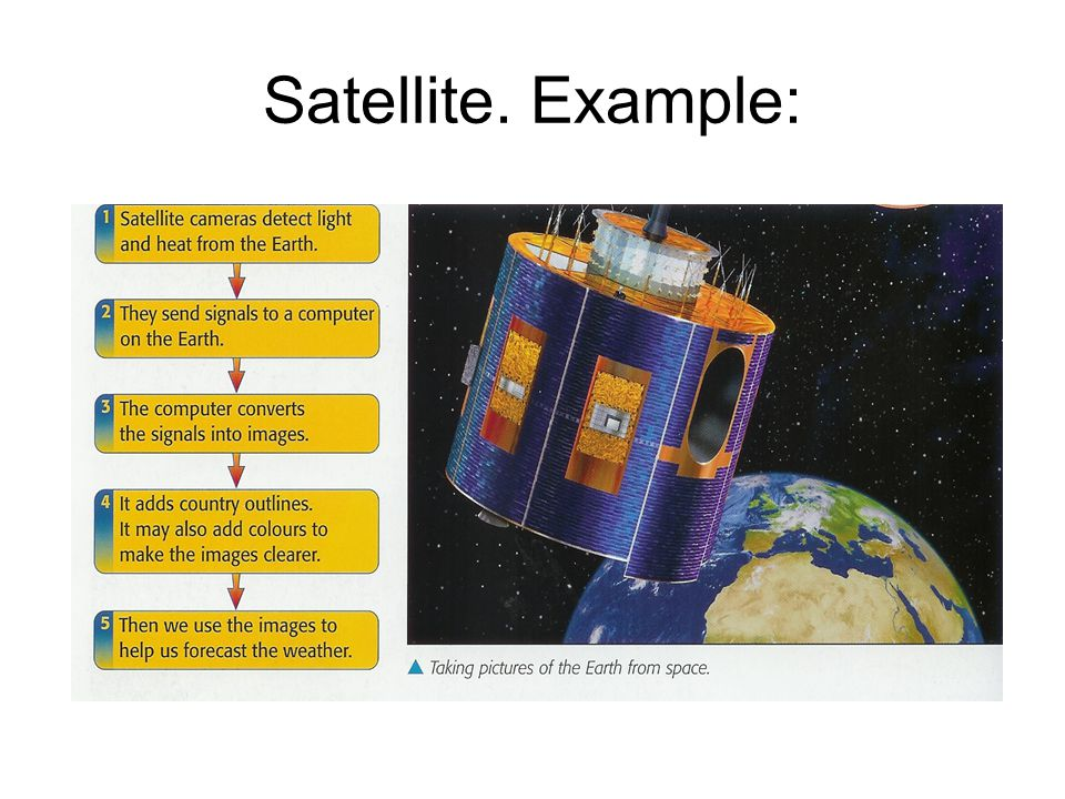 Satellite. Example: