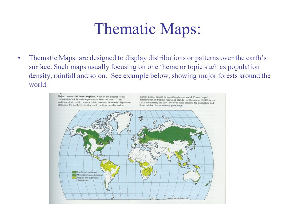 Thematic Maps: