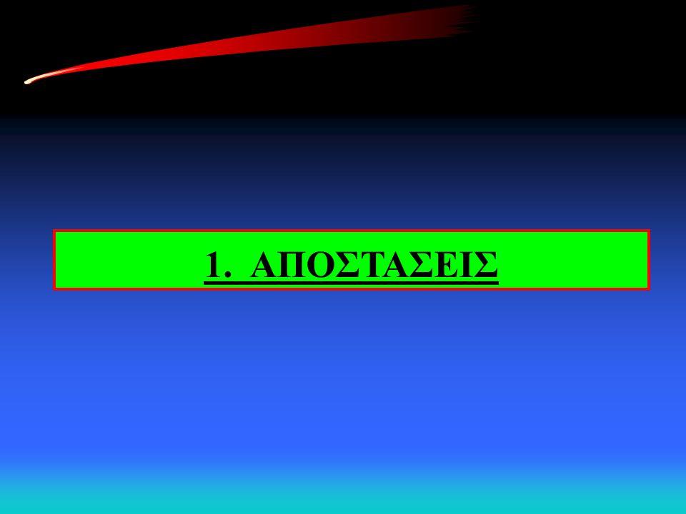 1. ΑΠΟΣΤΑΣΕΙΣ