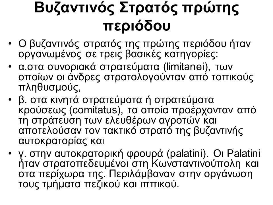 Βυζαντινός Στρατός πρώτης περιόδου