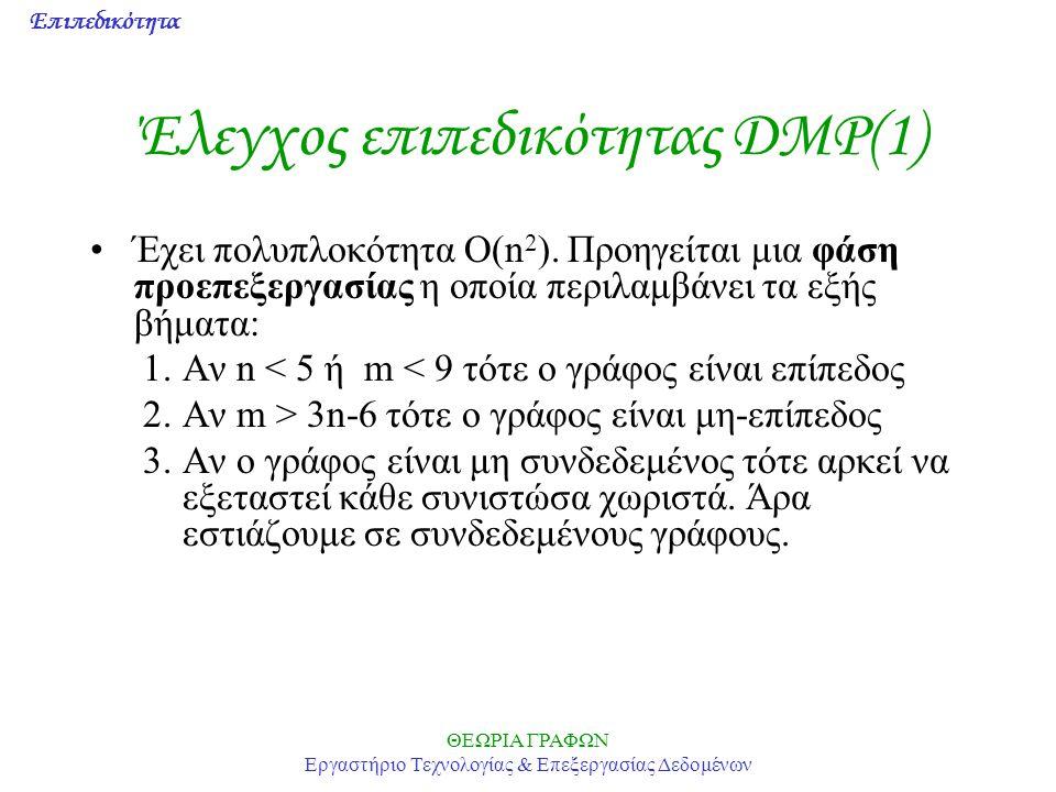 Έλεγχος επιπεδικότητας DMP(1)