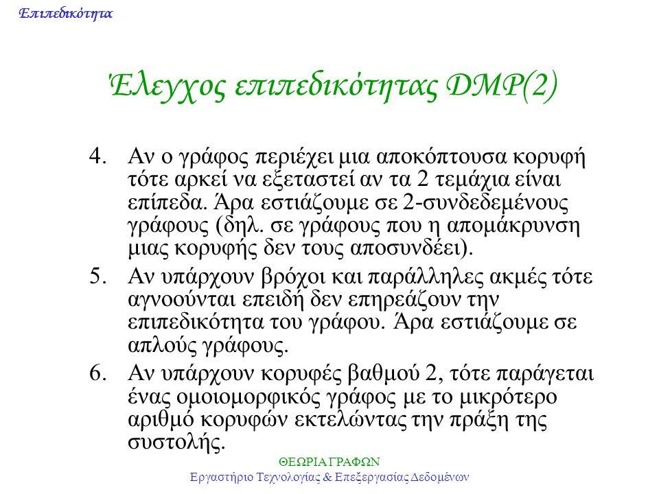 Έλεγχος επιπεδικότητας DMP(2)
