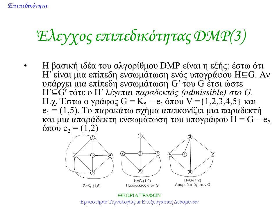 Έλεγχος επιπεδικότητας DMP(3)