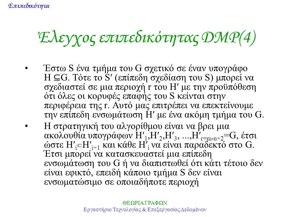 Έλεγχος επιπεδικότητας DMP(4)