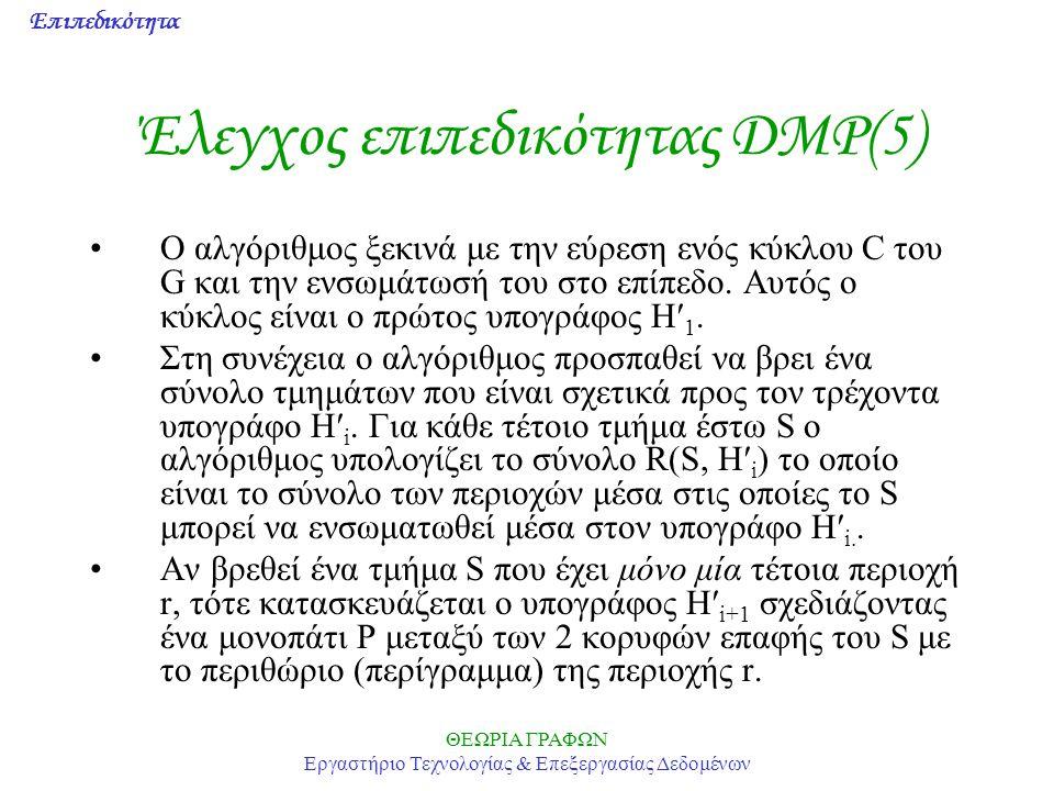 Έλεγχος επιπεδικότητας DMP(5)