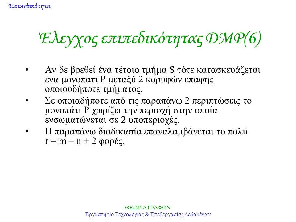 Έλεγχος επιπεδικότητας DMP(6)