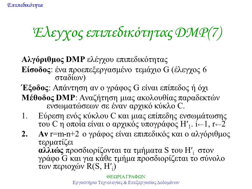 Έλεγχος επιπεδικότητας DMP(7)