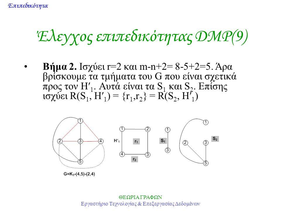 Έλεγχος επιπεδικότητας DMP(9)