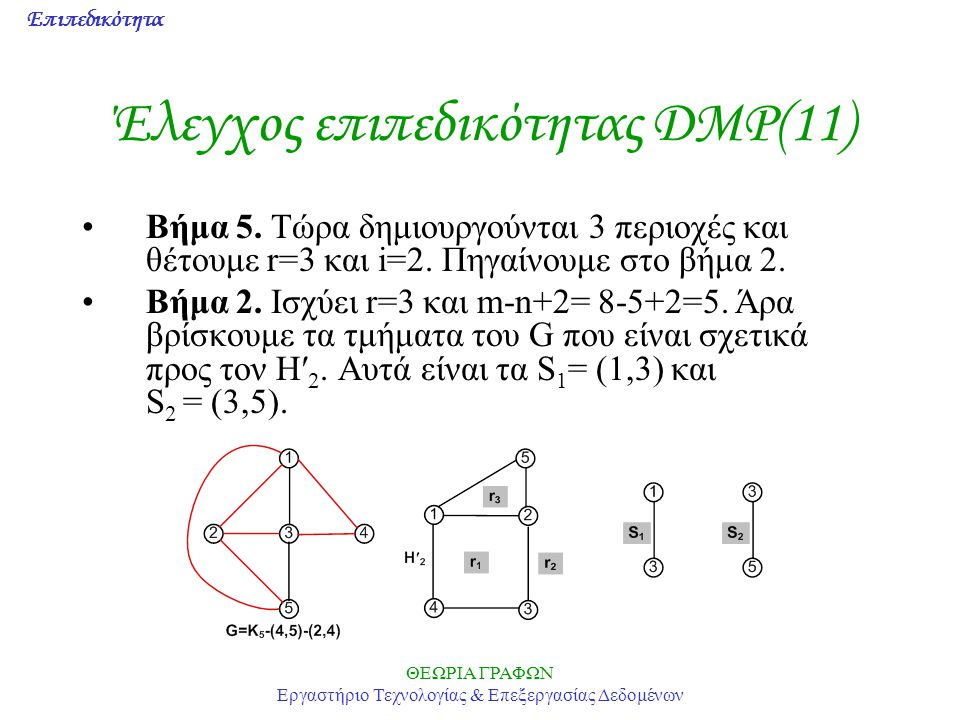 Έλεγχος επιπεδικότητας DMP(11)