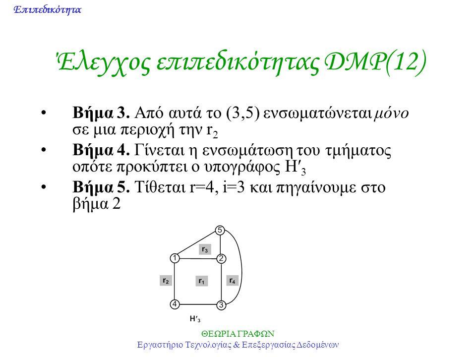 Έλεγχος επιπεδικότητας DMP(12)