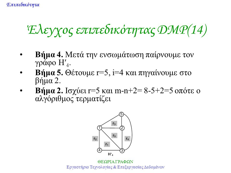 Έλεγχος επιπεδικότητας DMP(14)