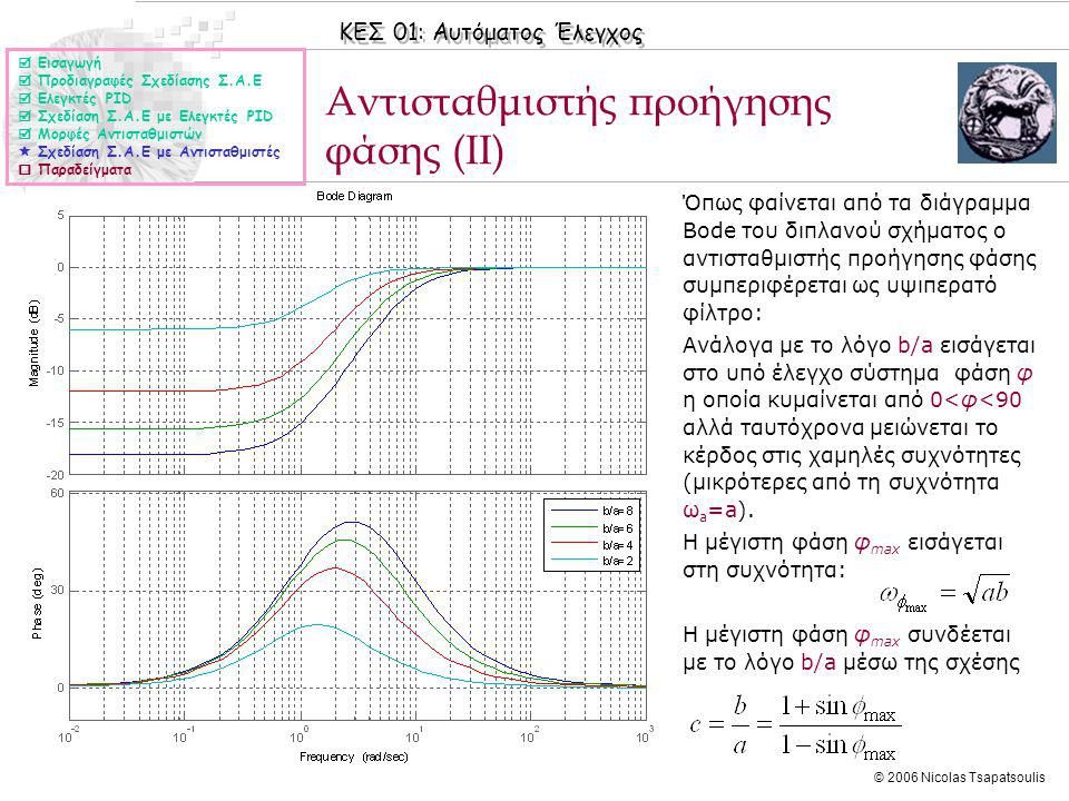 Αντισταθμιστής προήγησης φάσης (II)