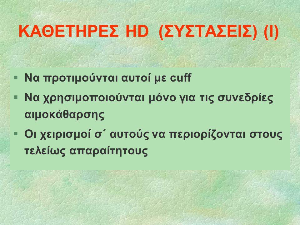ΚΑΘΕΤΗΡΕΣ HD (ΣΥΣΤΑΣΕΙΣ) (Ι)